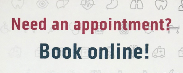 Need an appointment? Book Online